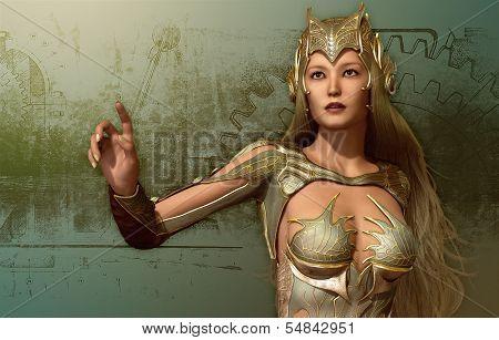 Woman In A Fantasy Armor