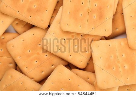 Background of stake saltine soda cracker.