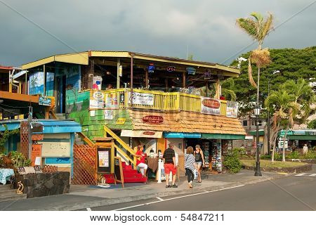 Surfer�s Restaurant In Kona On Big Island On Hawaii