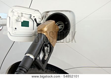 White Cars Are Fuel Filler.