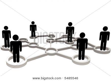 verbundenen Personen in Knoten des Business oder soziales Netzwerk
