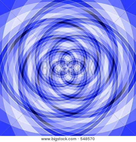 Vertigo Blue Geometric