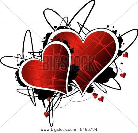 Valentine's Day Grunge Heart