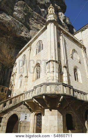 Notre Dame de Rocamadour chapel in Episcopal City of Rocamadour, France