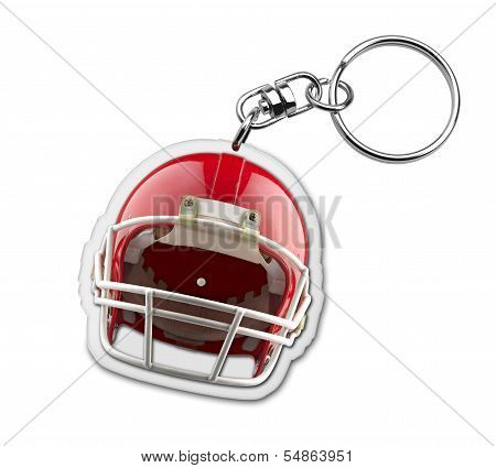 Gift Keyholder With American Football Helmet Symbol