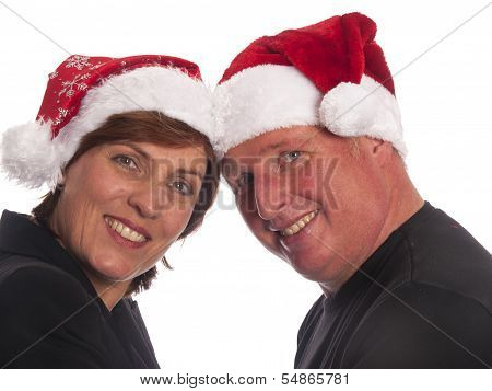 Attractive Christmas Couple