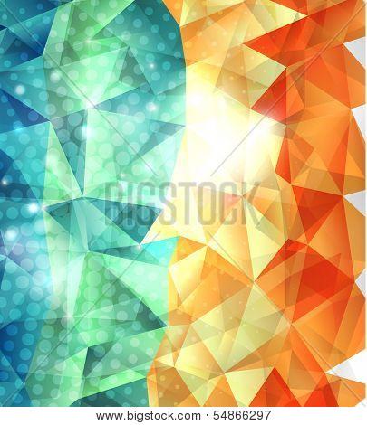 Shiny triangles geometric shape background