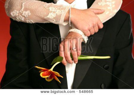 Braut-Bräutigam-Blume