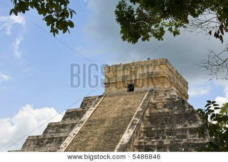 Chichen Itza Pyramid Detail