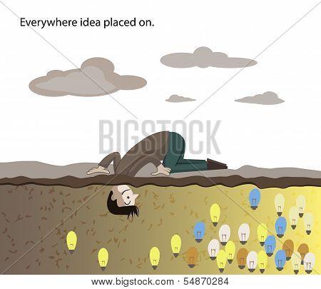 Man Find Idea Under The Ground