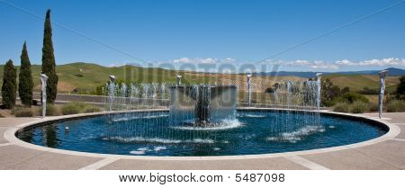 Water Fountain Panorama