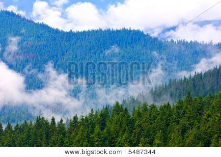 Mountain Ridges After Rain