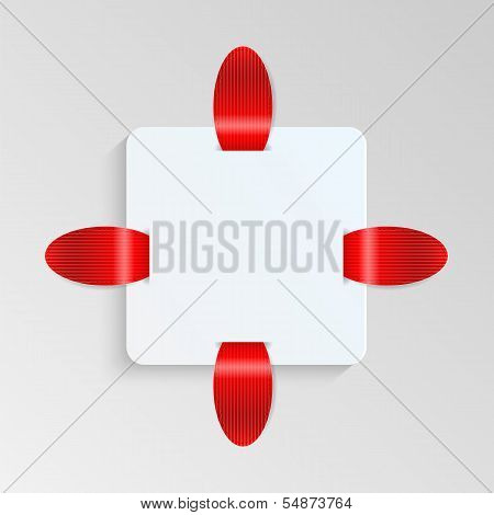 Sheet Of Paper With Red Labels.blank Sheet Of Paper To Write Information.vector