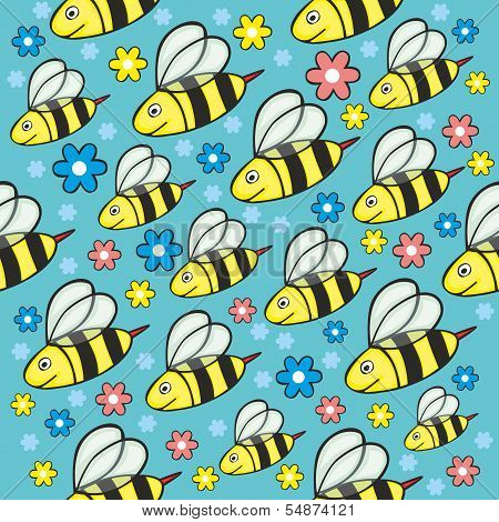 seamless honey bees