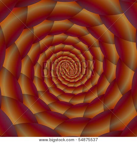 Brown Snakeskin Spiral