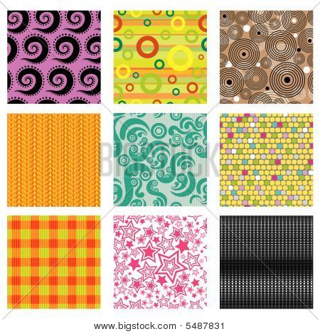 Set Of Bright Abstract Vector Patterns