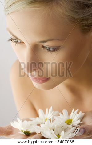 Beauty Girl With Flower