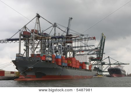 Container Port In Antwerp
