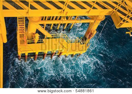 Oil and gas platform in the gulf or the sea, The world energy