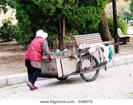 Japan Hiroshima Woman Cleaner