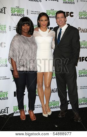 LOS ANGELES - NOV 26: Octavia Spencer, Paula Patton, Josh Welsh at the 2014 Film Independent Spirit Awards Nominations Press Conference at W Hollywood on November 26, 2013 in Los Angeles, CA