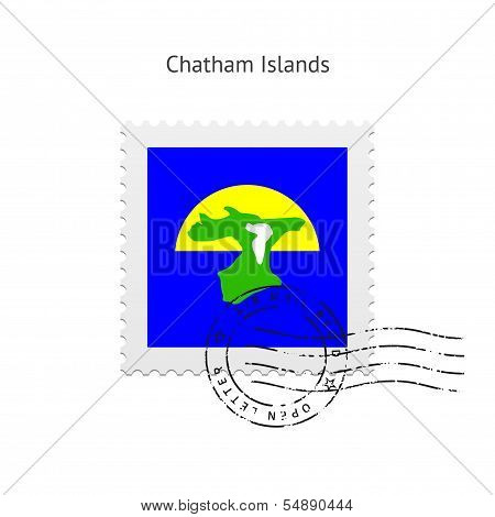 Chatham Islands Flag Postage Stamp.