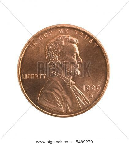 Penny Isolated, Clipping Path.