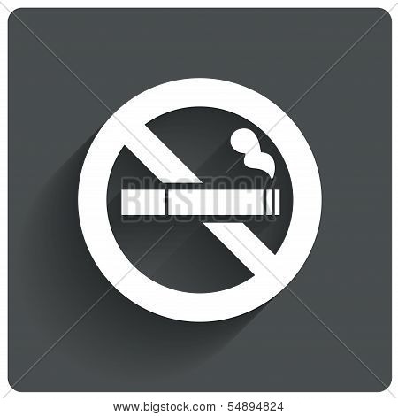 No smoking sign. No smoke icon. Stop smoking.
