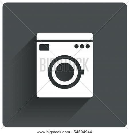 Washing machine icon. Wash machine symbol.