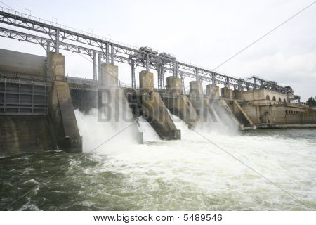 Hydroelectric Dam On A River