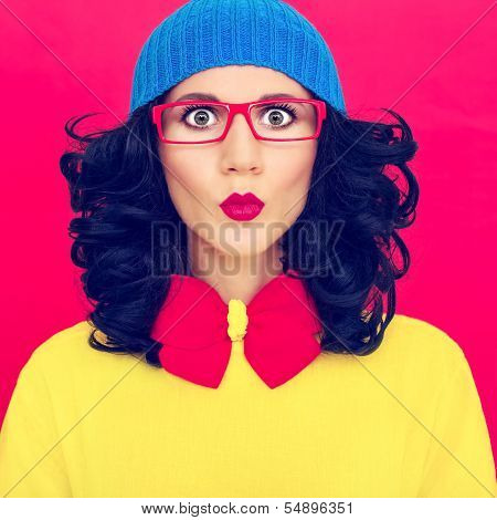 colorful portrait funny girl