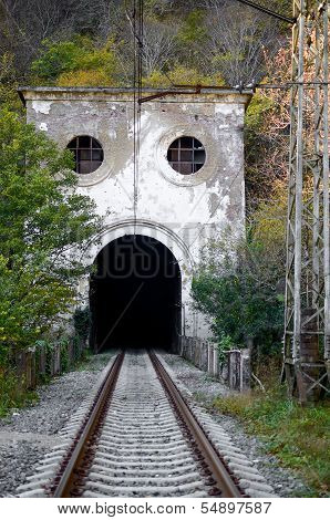Entrance to the old railway tunnel