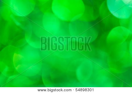 Green natural bokeh
