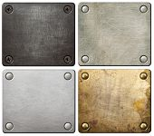 picture of scratching head  - Metal plates with screws and rivets - JPG