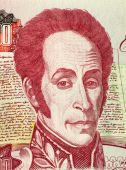 foto of bolivar  - Simon Bolivar on 1000 Bolivares 1998 Banknote from Venezuela - JPG