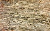 stock photo of sedimentation  - Closeup texture of surface of sediment rock - JPG
