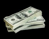 image of 100 dollars dollar bill american paper money cash stack  - big pile of money - JPG