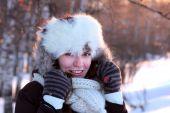 foto of ruddy-faced  - A portrait of young woman in winter outwear - JPG
