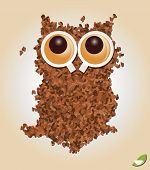 Coffee inspired background, coffee cup, vector illustration