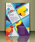 stock photo of placeholder  - Well organized brochure print template - JPG