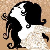 Постер, плакат: Винтажные женщина в богато платье