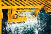 picture of oilfield  - Oil and gas platform in the gulf or the sea - JPG