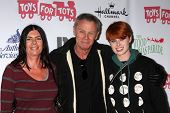 LOS ANGELES - DEC 1:  Teresa Parkerson, Tristan Rogers, Sara Rogers at the 2013 Hollywood Christmas
