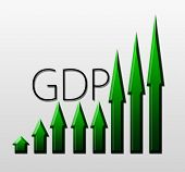 foto of gross  - Chart illustrating Gross Domestic Product growth macroeconomic indicator concept - JPG