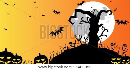 Halloween Tree Background