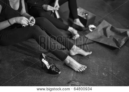 Preparing The Shoes