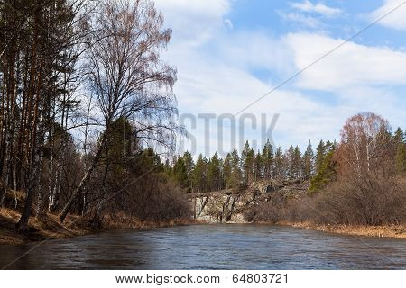 Ural Nature On The River Inzer, Russia