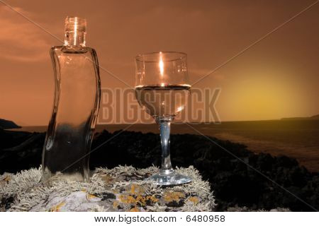 Crystal Water At Sunset