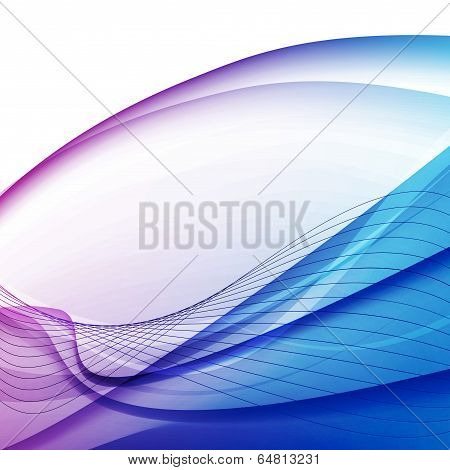 Colorful Abstract Swoosh Lines Background