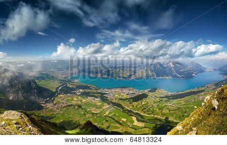 Panoramic View on Lake Thun